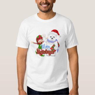 Merry Christmas Elf Bear T Shirts