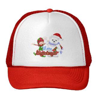 Merry Christmas Elf Bear Trucker Hat