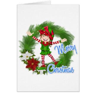 Merry Christmas Elf Card