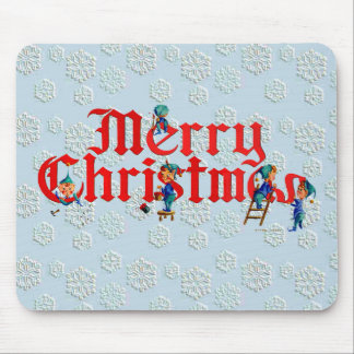 MERRY CHRISTMAS ELF PAD by SHARON SHARPE Mouse Pad