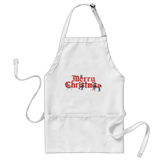 MERRY CHRISTMAS ELVES by SHARON SHARPE Adult Apron