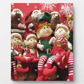 Merry Christmas Elves Plaque