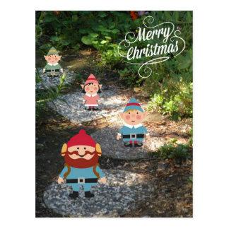 Merry Christmas Elves Postcard