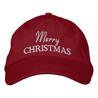 Merry Christmas Embroidered Baseball Cap