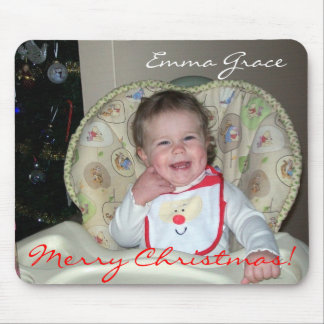 """Merry Christmas!"" Emma Grace Mouse Pad"