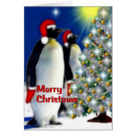 Merry Christmas - Emperor Penguins Greeting Cards