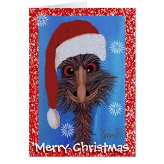 Merry Christmas Emu Greeting Card