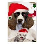 Merry Christmas English Springer Spaniel Cards