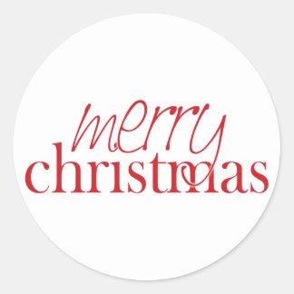 Merry Christmas Envelope Enclosure Classic Round Sticker
