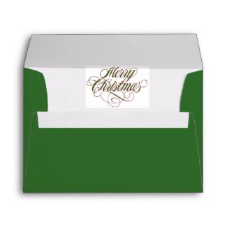 Merry Christmas! Envelope Matches Greeting Card envelope