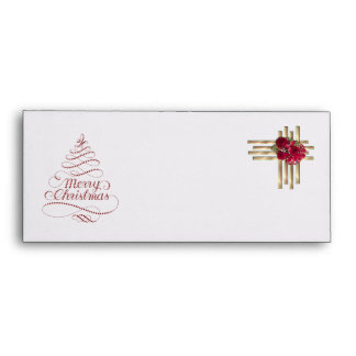 Merry Christmas Envelope with festive decoration