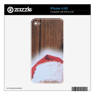 Merry Christmas Eve, Hat of Santa Skin For The iPhone 4S