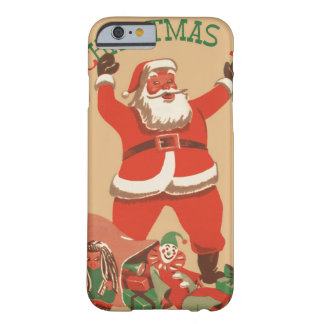 Merry Christmas Everybody! Vintage Santa Claus Barely There iPhone 6 Case