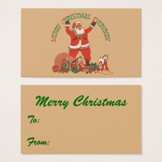 Merry Christmas Everybody! Vintage Santa Claus Business Card