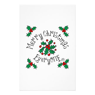 Merry Christmas Everyone Customized Stationery