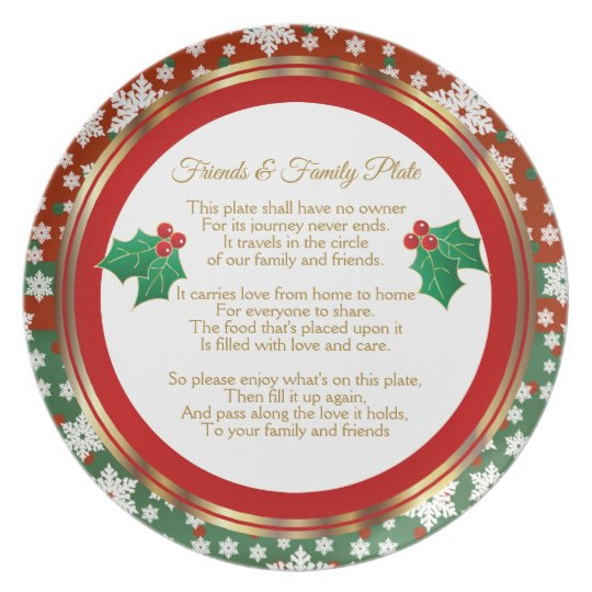 Merry Christmas Family.Merry Christmas Family And Friend Sharing Plate