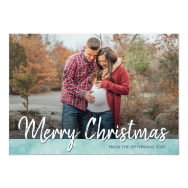 Professional Business Merry Christmas Family Photo Greeting 2017 Holiday Card