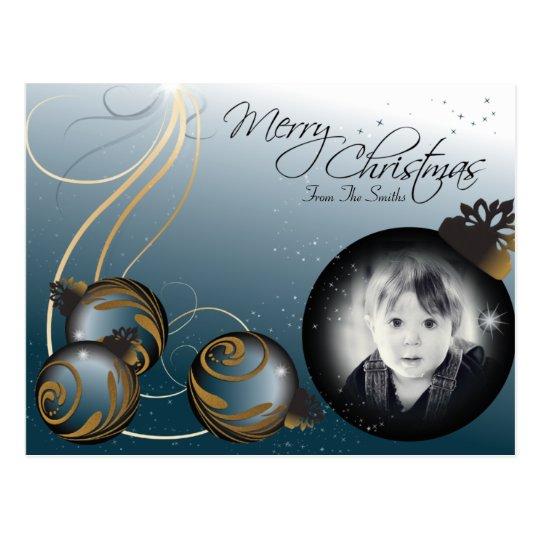 Merry Christmas Family Photo Ornaments Postcard