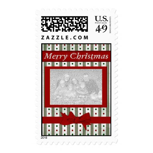 Merry Christmas - Family Photo Stamp