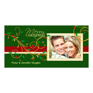 Merry Christmas Fancy Holiday Photo Cards
