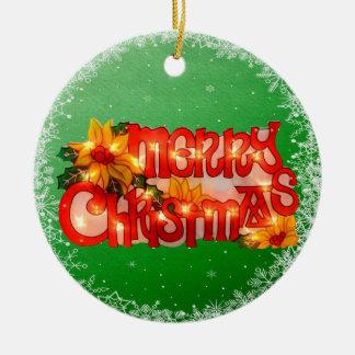 Merry Christmas Faux Christmas Lights Ornament