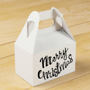 merry christmas box favor boxes zazzle  merry christmas favor box