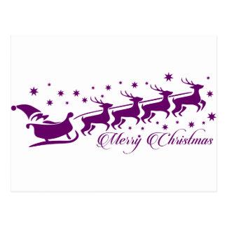 Merry Christmas favor Santa Klaus Postcard