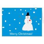 Merry Christmas-Favorite Grand daughter Greeting Card