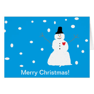 Merry Christmas-Favorite Grand daughter Greeting Card