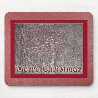 Merry Christmas February Snow Storm Mouse Pad