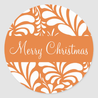 Merry Christmas Fern Flora Envelope Sticker Seal