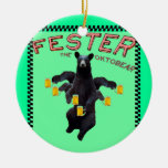 Merry Christmas! Fester Wishes You A YappyHoonEar! Ceramic Ornament