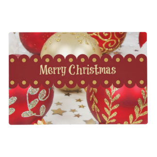 Merry Christmas - Festive Christmas Baubles Placemat