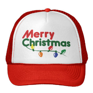 Merry Christmas Festive Lights Trucker Hat