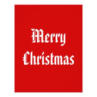 Merry Christmas Festive Red and White Custom Flyer Design