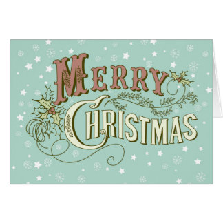 Merry Christmas Festive Typographical Design Card