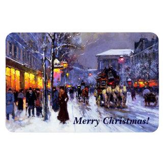 Merry Christmas. Fine Art Christmas Gift Magnet