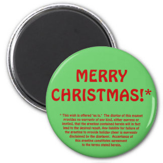 MERRY CHRISTMAS!* (fine print) 2 Inch Round Magnet