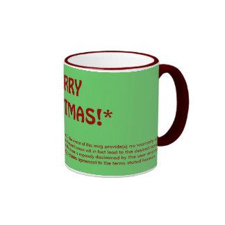MERRY CHRISTMAS!* (fine print) Ringer Coffee Mug