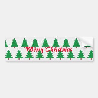 Merry Christmas, fir tree pattern Bumper Sticker