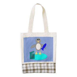Merry Christmas Fishing Penguin Tote Bag