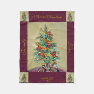 """Merry Christmas Fleece Blanket, 30""""x40"""""""