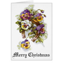 Merry Christmas Florals Card