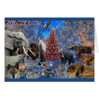 Merry Christmas for all animals Card