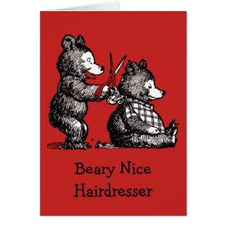 Merry Christmas for Hairdresser - Beary Nice Card