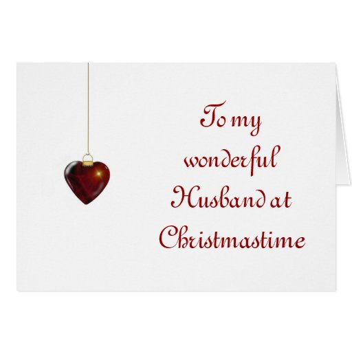 Merry Christmas for husband from wife Cards