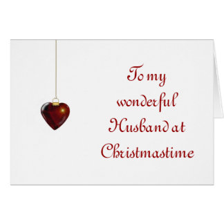 Merry Christmas for husband from wife Greeting Card