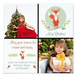 Merry Christmas Fox 2 Photos - Christmas Card