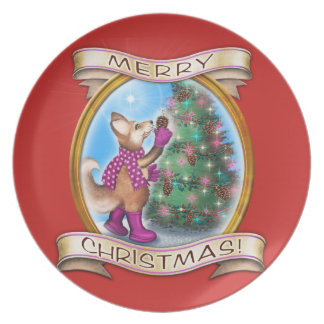 Merry Christmas - Frieda Tails collectible plate