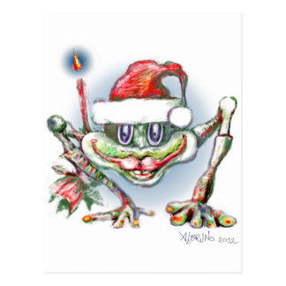 * Merry christmas Frog by Albruno * Postcard